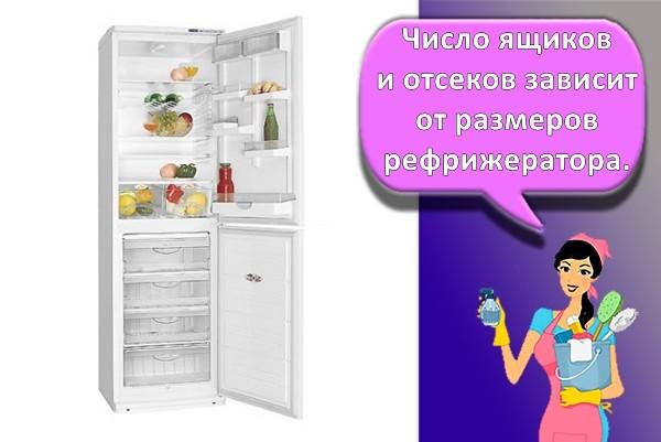 ящики в холодильнике