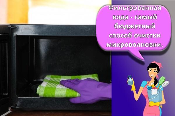 процесс мойки микроволновки