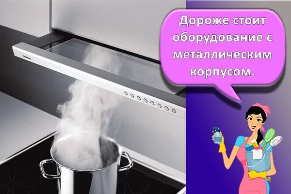 процесс вытяжки пара в кухне