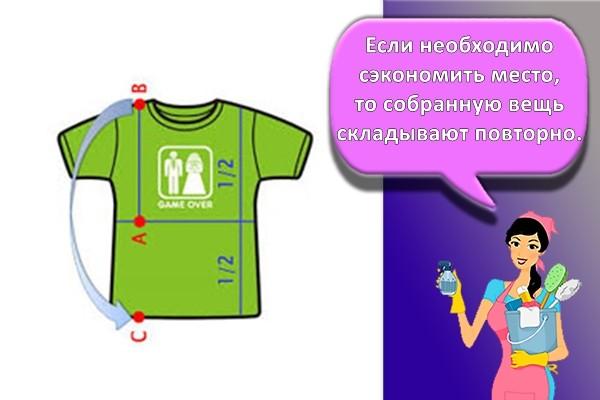 рисунок как складывать футболку