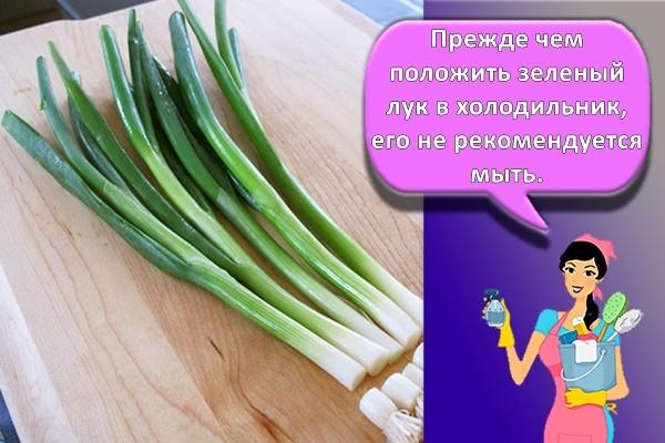 обрезка зеленого лука