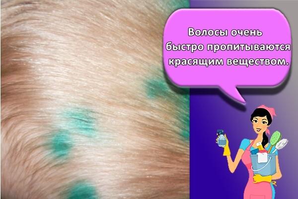 Волосы очень быстро пропитываются красящим веществом.