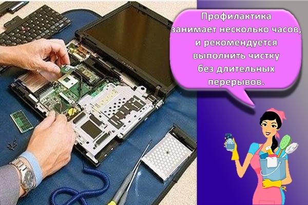 комплексная чистка ноутбука