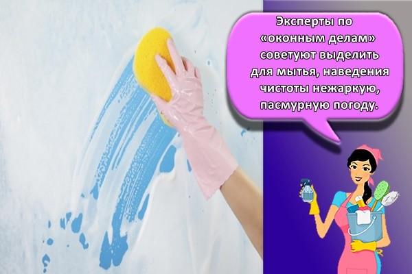 Эксперты по «оконным делам» советуют выделить для мытья, наведения чистоты нежаркую, пасмурную погоду.