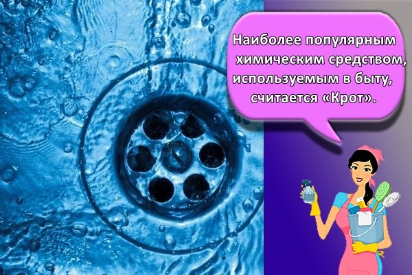 Наиболее популярным химическим средством, используемым в быту, считается «Крот».
