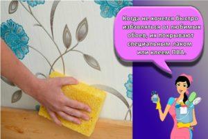 Как можно быстро помыть обои от грязи в домашних условиях