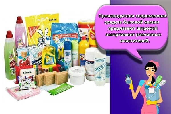 Производители современных средств бытовой химии предлагают широкий ассортимент различных очистителей