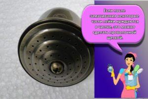 ТОП 10 средств, как в домашних условиях можно отчистить душевую лейку от известкового налета