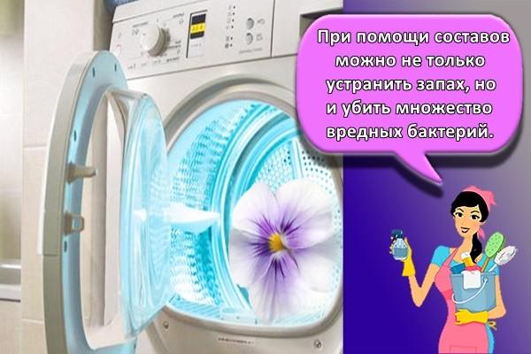 При помощи составов можно не только устранить запах, но и убить множество вредных бактерий.