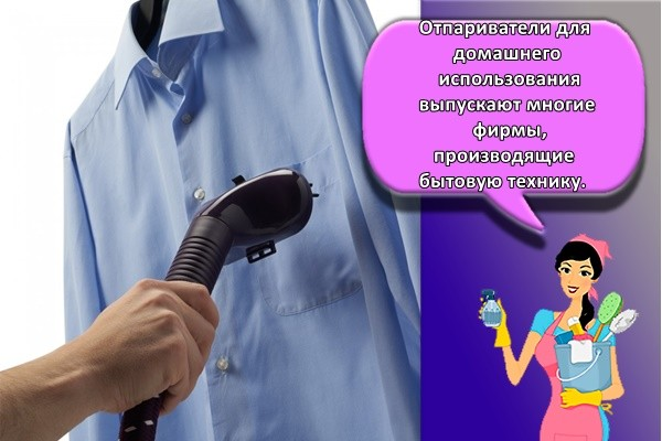 Отпариватели для домашнего использования выпускают многие фирмы, производящие бытовую технику.