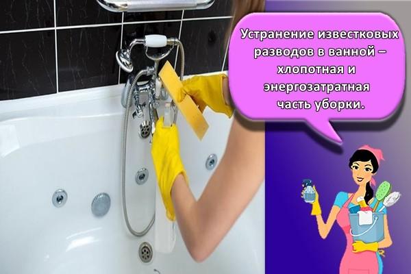 Устранение известковых разводов в ванной – хлопотная и энергозатратная часть уборки.