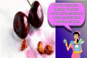 Правила, как быстро отстирать пятна от вишни в домашних условиях