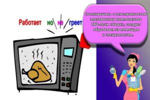В чем причина, когда микроволновка работает, но не греет и что делать