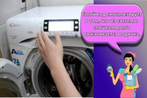 Коды с расшифровкой ошибок стиральной машинки Канди и как исправить