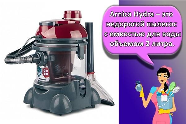 Arnica Hydra – это недорогой пылесос с емкостью для воды объемом 2 литра.