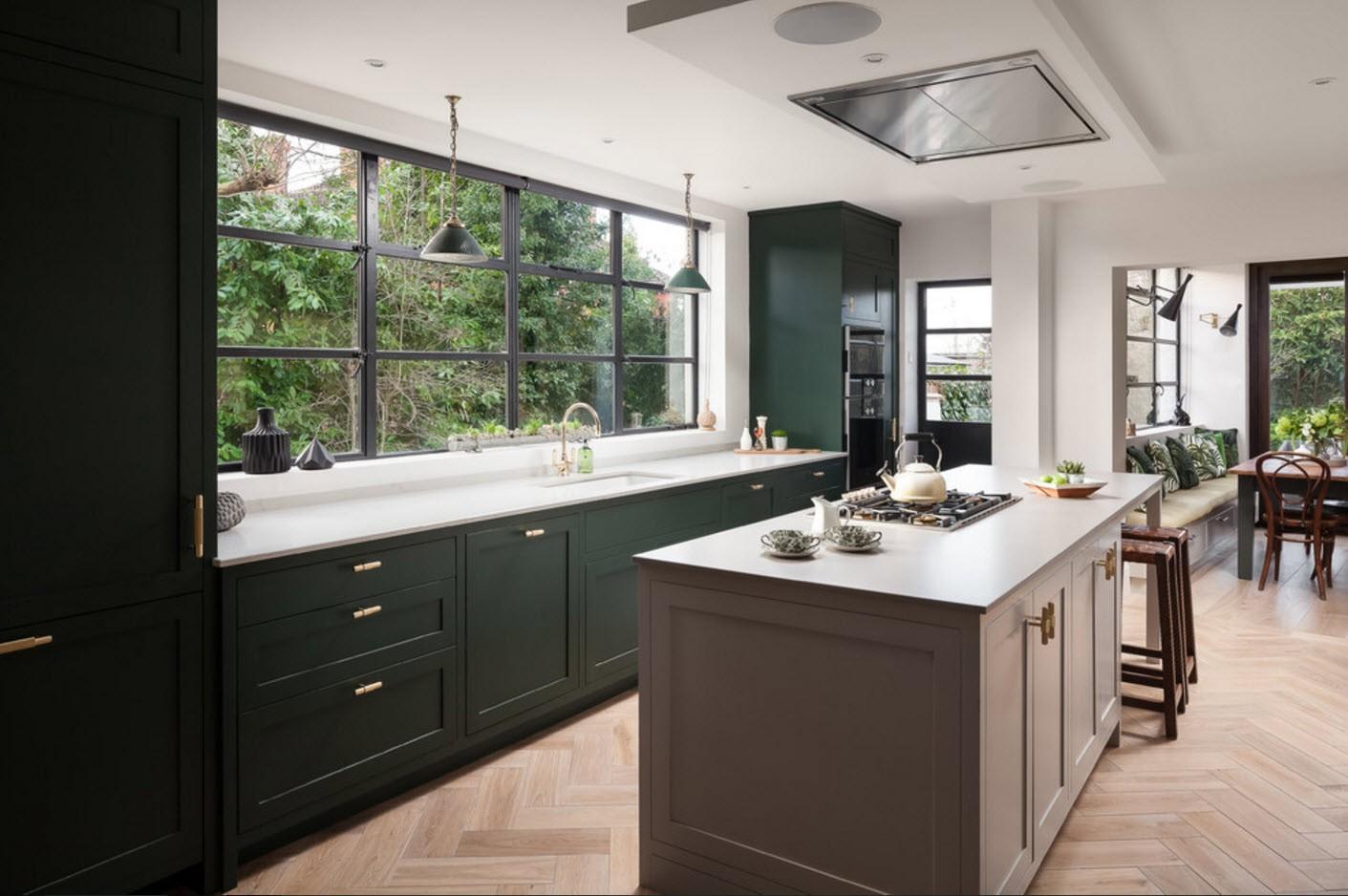 кухни дизайн в частном доме