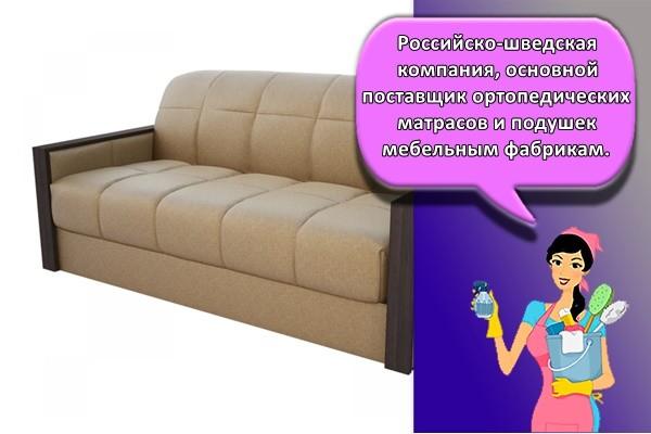 Российско-шведская компания, основной поставщик ортопедических матрасов и подушек мебельным фабрикам.