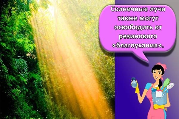 Солнечные лучи также могут освободить от резинового «благоухания».
