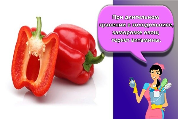 При длительном хранении в холодильнике, заморозке овощ теряет витамины.