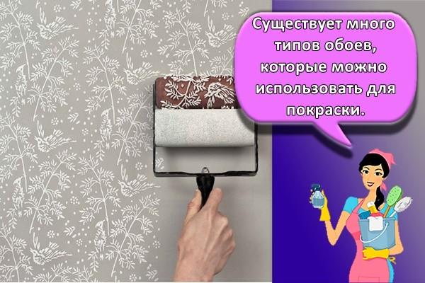 Существует много типов обоев, которые можно использовать для покраски.