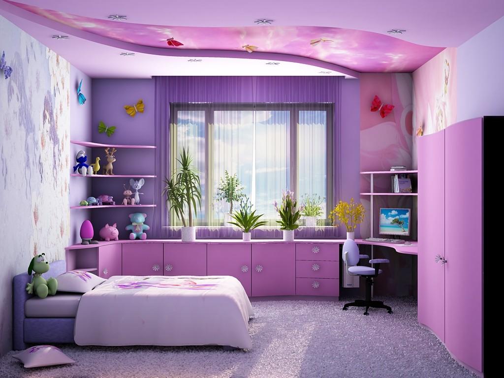 дизайн для детской комнаты для девочки Мультфильмы