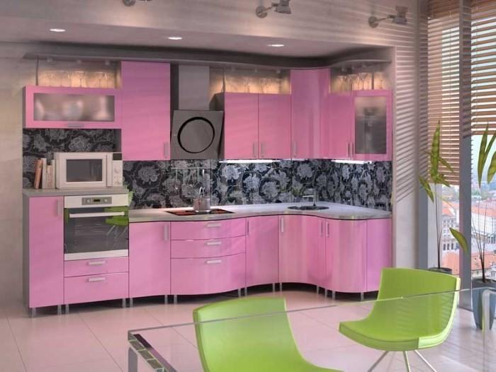 кухня розовая
