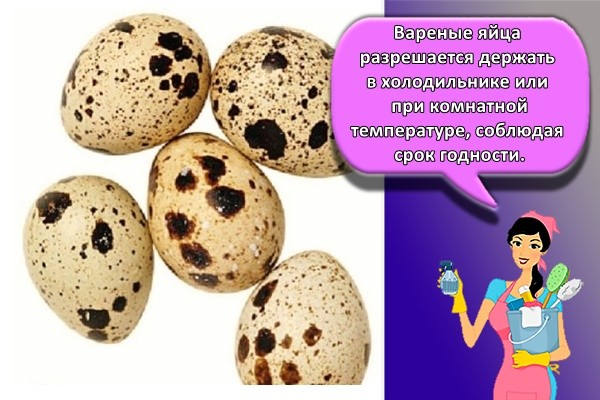 Вареные яйца разрешается держать в холодильнике или при комнатной температуре, соблюдая срок годности.