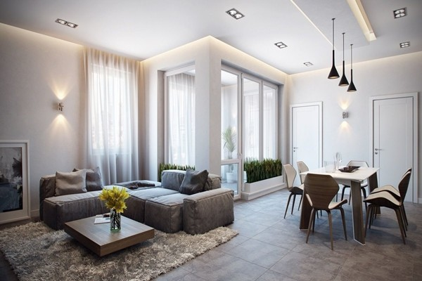 Мягкий свет в гостиной