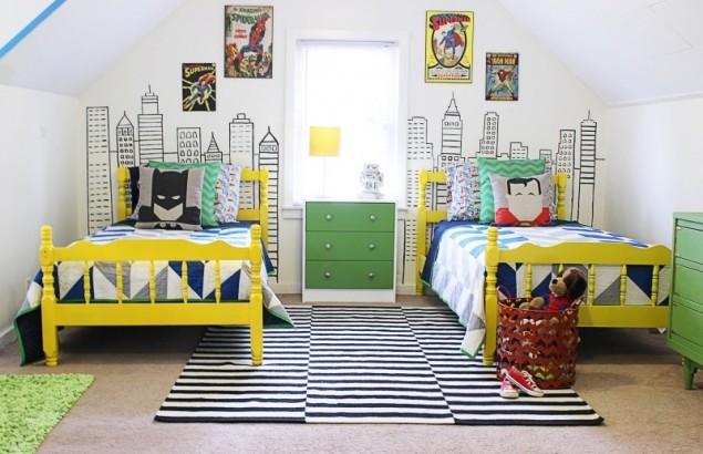 дизайн детской комнаты для мальчиков Поп-арт