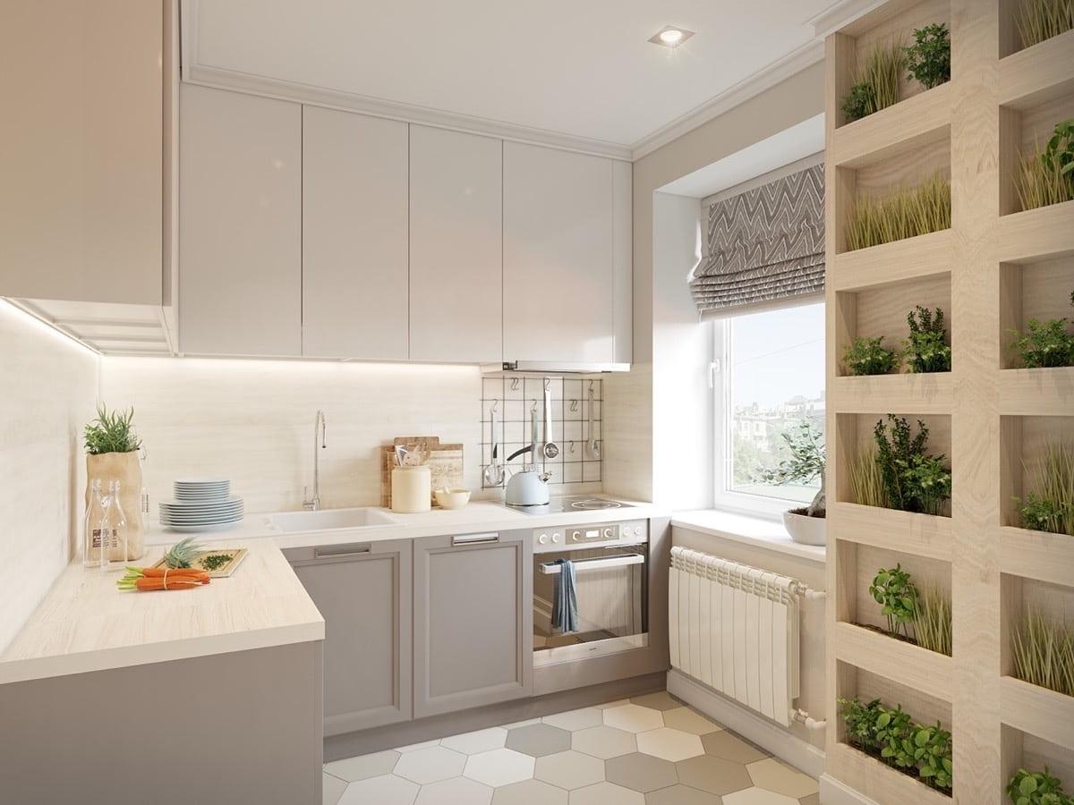 дизайн кухни небольшой прованс