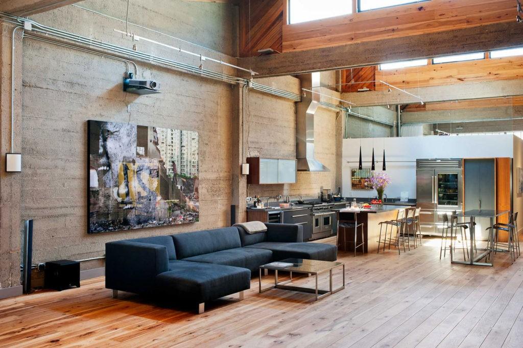 Зоны отделяют при помощи аксессуаров – торшеров, постаментов, больших ваз и других предметов интерьера.