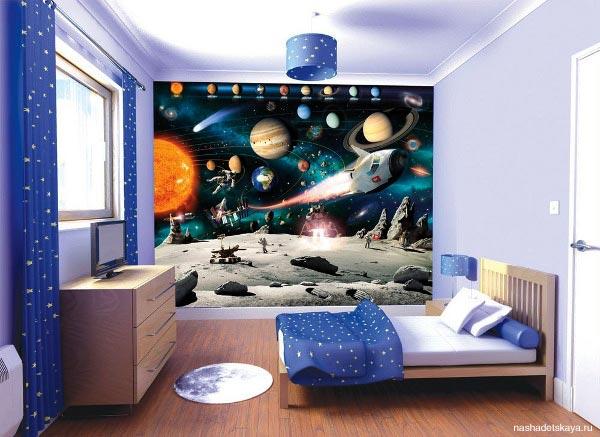 Для выбора тематики оформления комнаты рекомендуется учитывать возраст маленького хозяина и его увлечения.