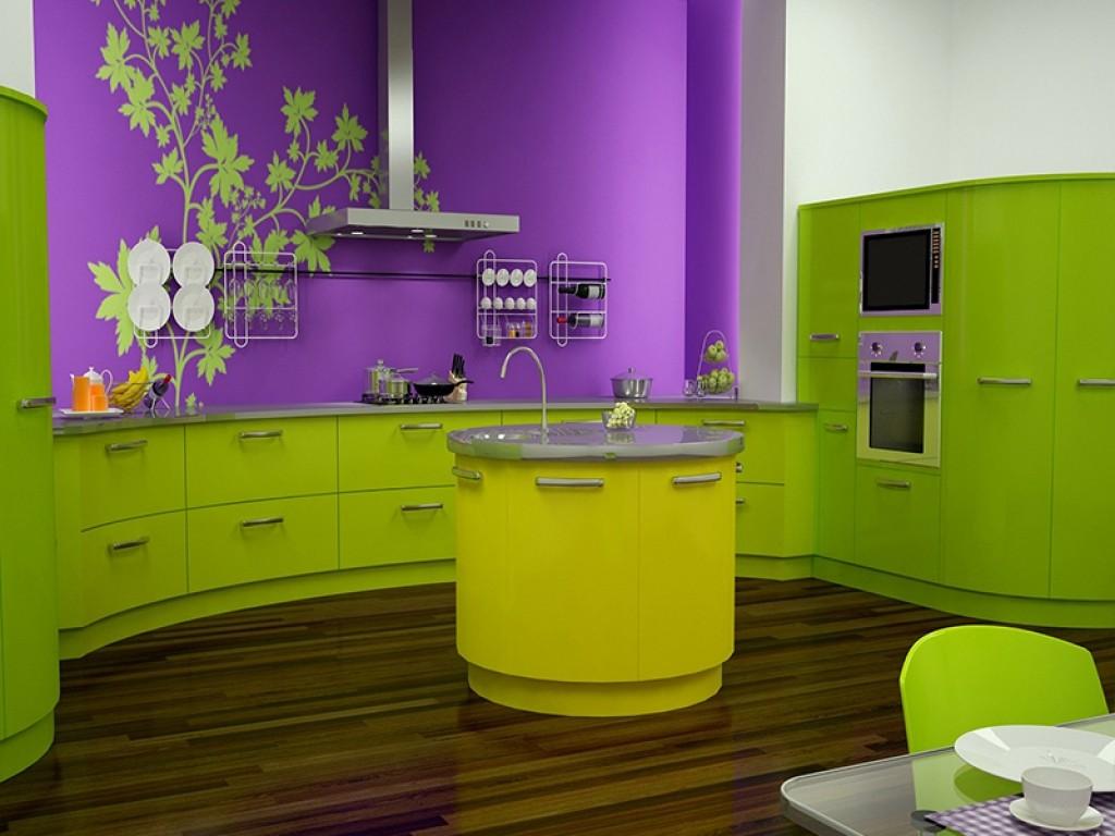 Желтый цвет стимулирует аппетит, а потому хорошо смотрится на кухне.