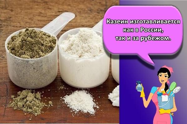 Казеин изготавливается как в России, так и за рубежом.