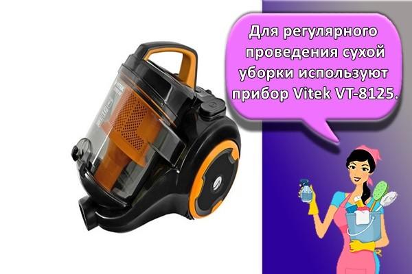 Для регулярного проведения сухой уборки используют прибор Vitek VT-8125.