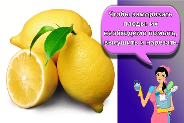 Чтобы заморозить плоды, их необходимо помыть, высушить и нарезать.