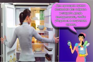 Что делать, если скрипит дверца холодильника и чем можно смазать