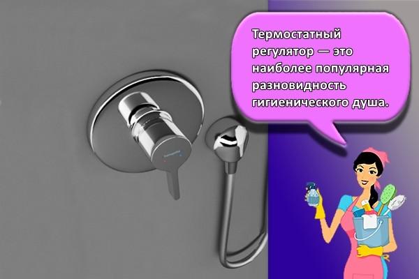 Термостатный регулятор — это наиболее популярная разновидность гигиенического душа.