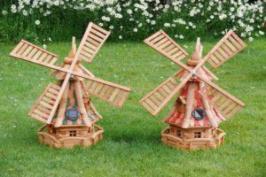 Как сделать декоративную мельницу для сада своими руками, чертежи и виды