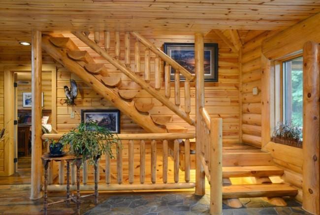 деревяная лесница