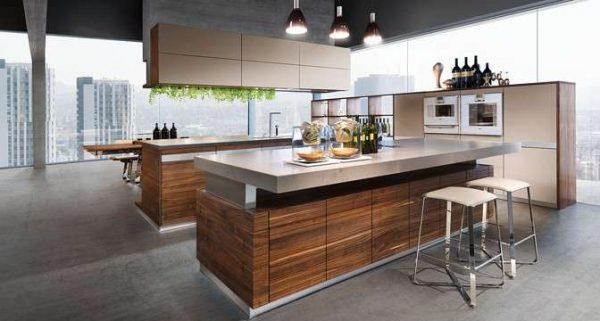 кухни с островом дизайн Хай-тек