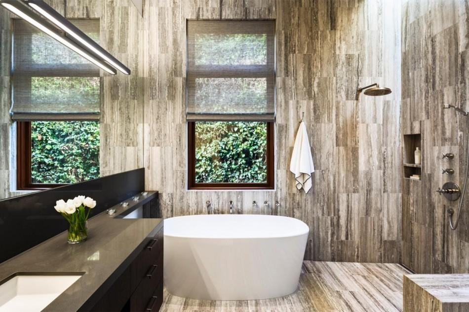 Неплохо сочетается с данным цветом необработанная кирпичная стена, хорошо поддерживающая стиль лофт.