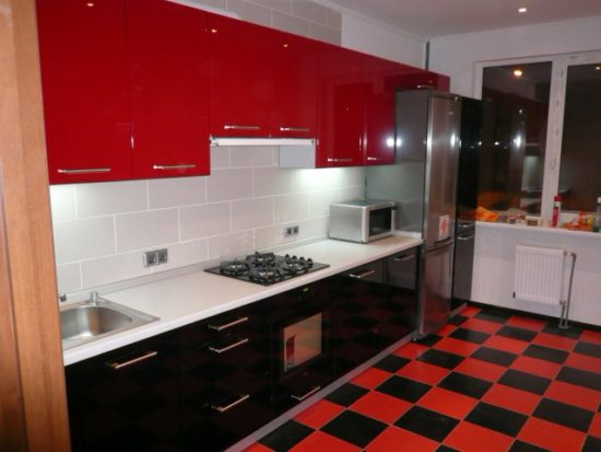 красно черня кухня
