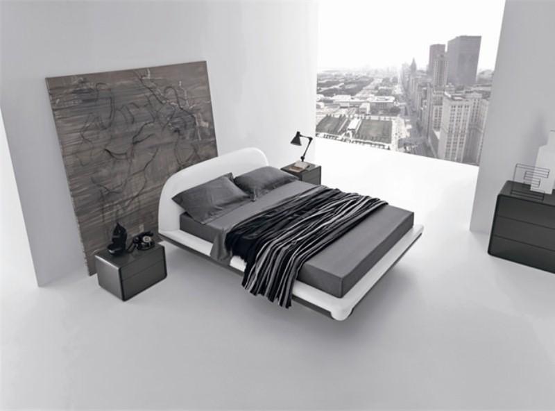 спальни в серых тонах дизайн стиль скандтнавский
