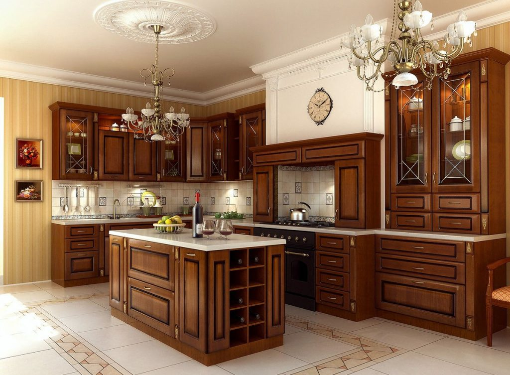Картинки кухня классика