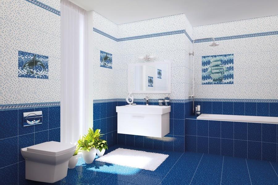 синяя ванна
