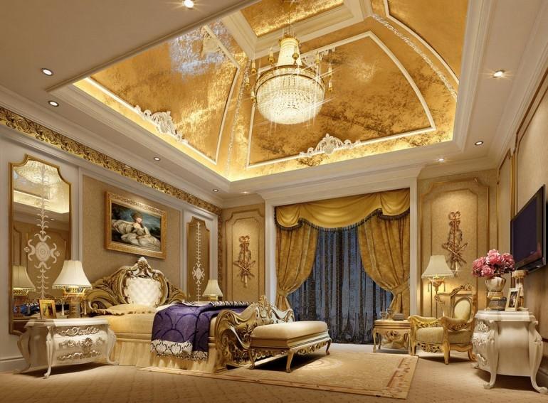Классическая мебель для интерьера спальной комнаты должна отличаться наличием изогнутых линий.