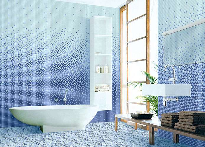 ванной комнаты мозаикой
