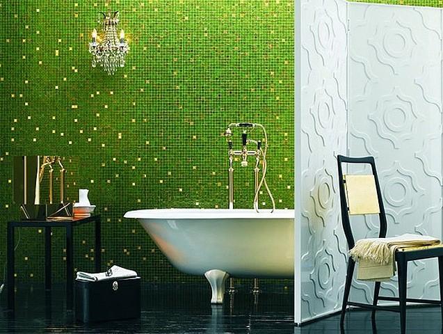 зеленая мозайка