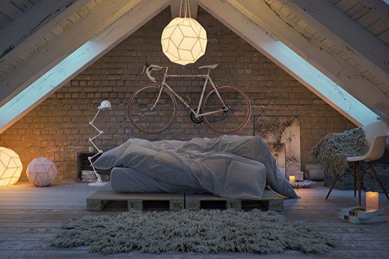 спальни на мансарде дизайн класика